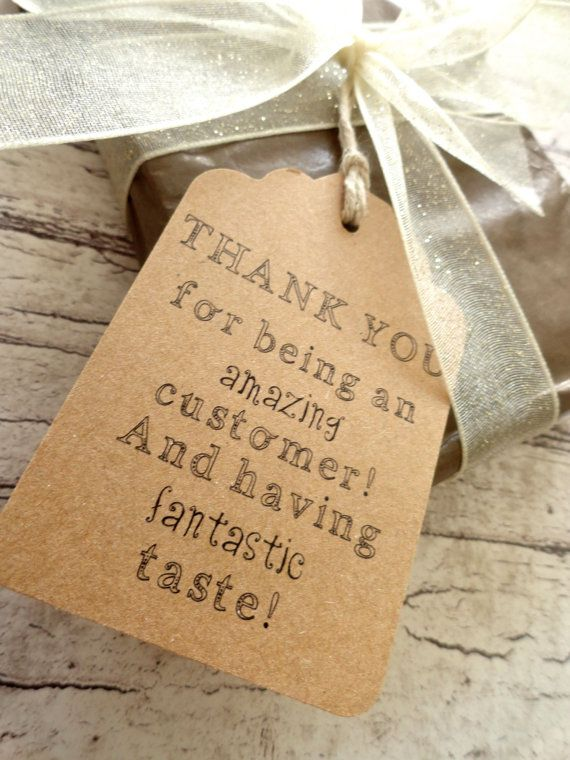 Thank You Gift Tags / Hang Tags  Because Buying by MarksOnMyHeart,