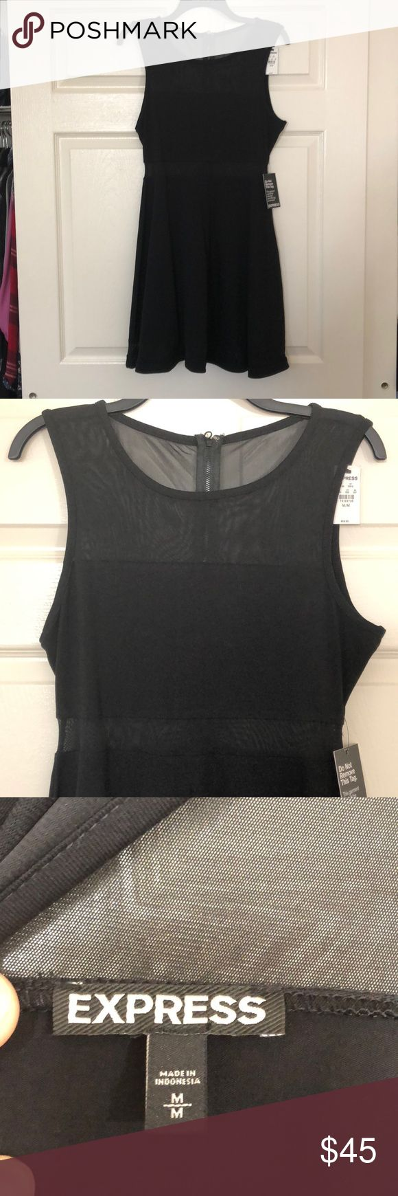 NWT. Express Dress See through material above chest and at waist (look at second and third picture) Express Dresses