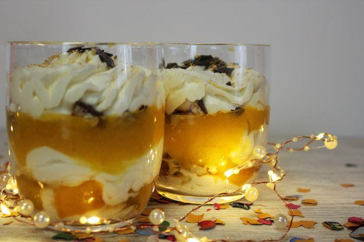 Schnelles Mascarpone Pfirsich Dessert – für Silvester, Geburtstage oder einfach so