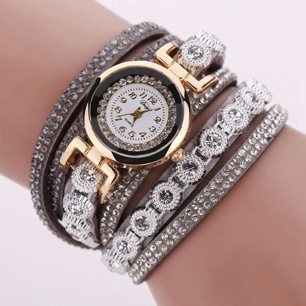 DUOYA DY038 Colorful Fashion Style Wristwatch Crystal Round Dial Bracelet Elegant Women Watch at Banggood