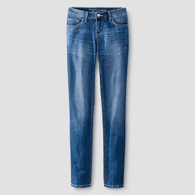 Women's Modern Fit Signature Straight Jean Rain Wash 16 Medium - Crafted by Lee, Blue