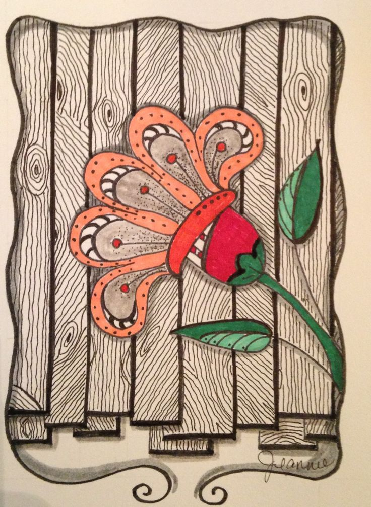 My Zen Tangle / Doodle Art #flower #leaf                                                                                                                                                      More