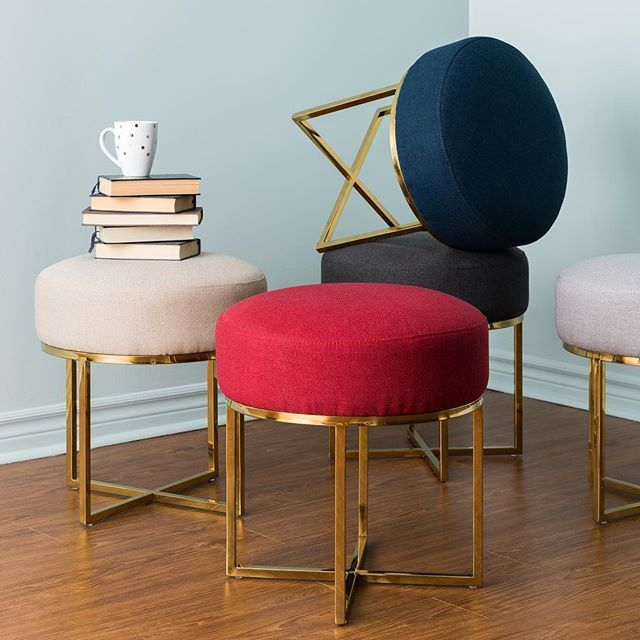 Our Dahna Stool Adapts To Your Every Need Which Colour Is Your Favourite Structube Mystructubestyle Tabouret Rembourre Tabouret Mobilier De Salon