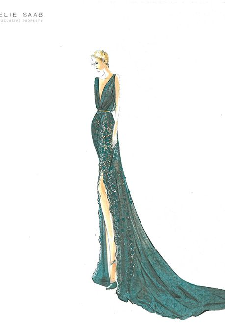 Emerald Glam from the Elie Saab Huate Couture Autumn/Winter 2012 collection.