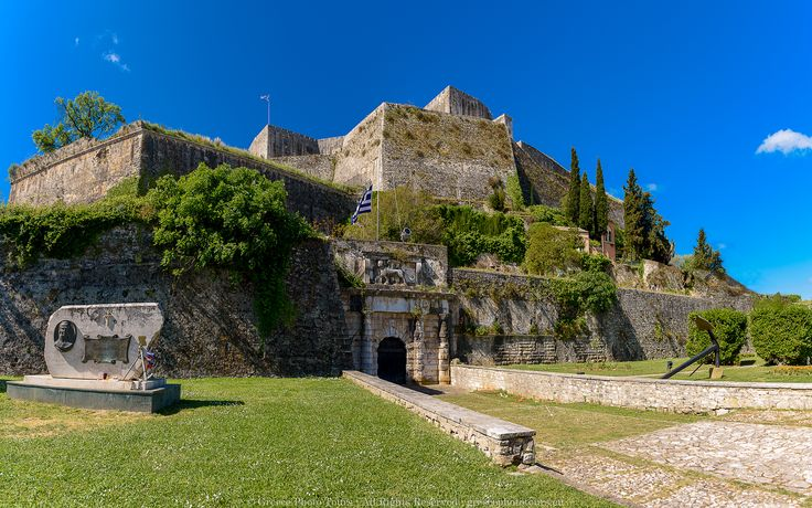 The new Castle of Corfu, Kerkyra offers great panoramic views from the top and it's definitely worth a visit.