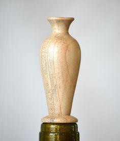Bouchon de bouteille écologique et artisanal en bois tourné
