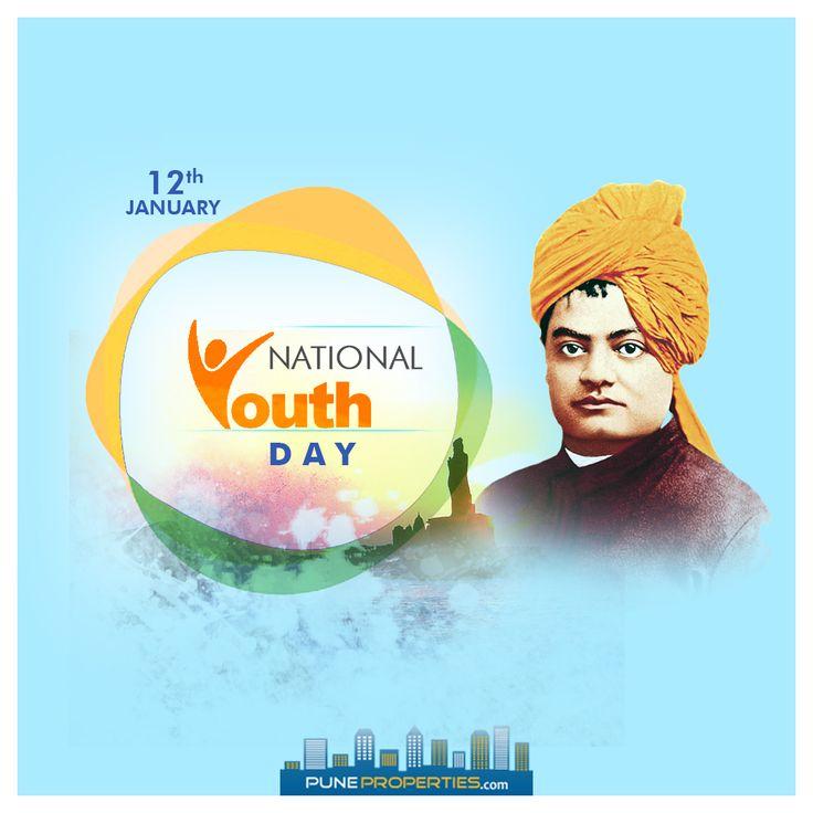 Happy National Youth Day. #PuneProperties #NationalYouthDay #YouthDay #SwamiVivekananda