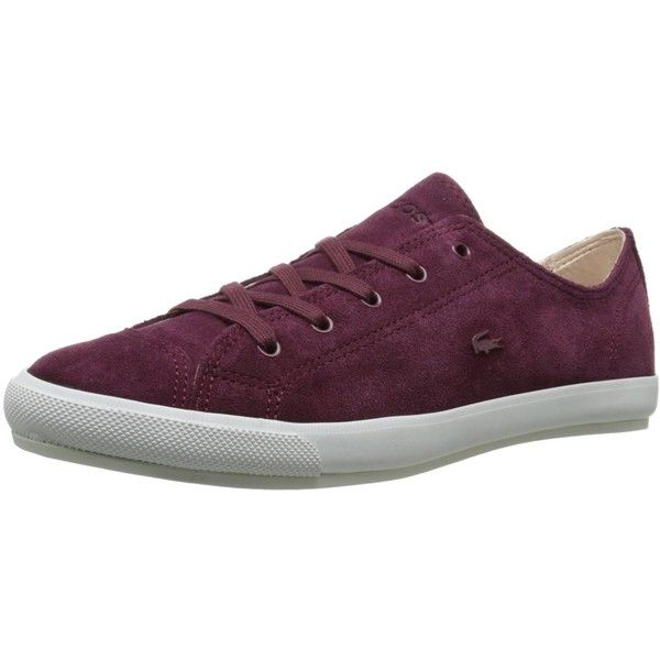 Lacoste Women's Fairburn W20 Fashion Sneaker ($51) ❤ liked on Polyvore featuring shoes, sneakers, lacoste shoes, lacoste, lacoste sneakers, lacoste footwear and lacoste trainers