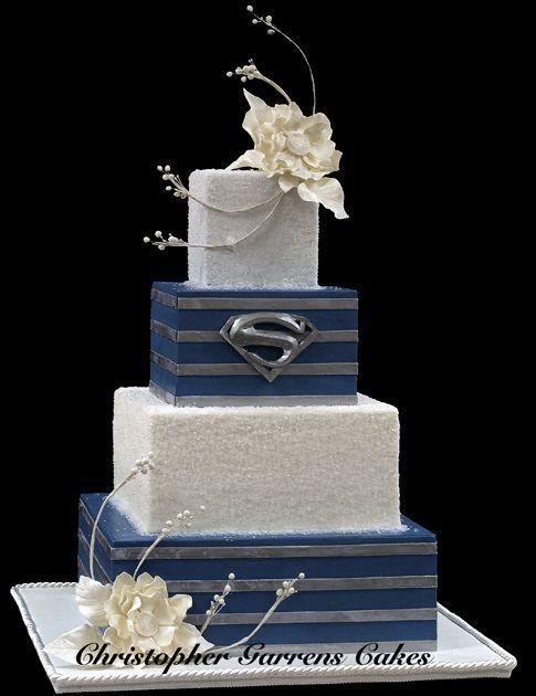 Superman Wedding Cake