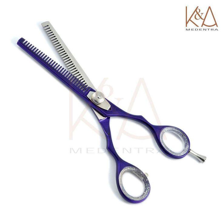 Haarscheren Friseurscheren Effilierscheren Schere Frisör Salon purpurrote Farbe