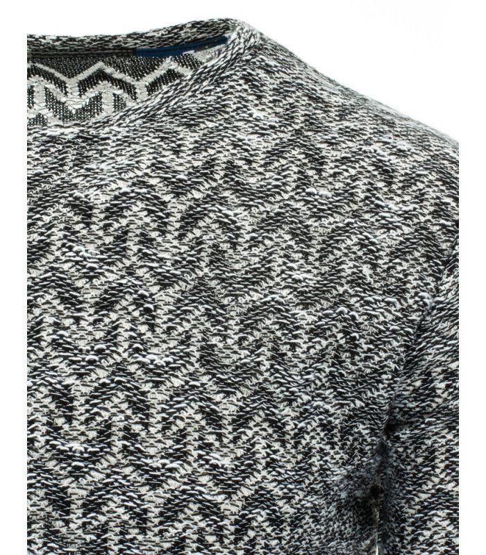 Pánsky čierno-biely sveter