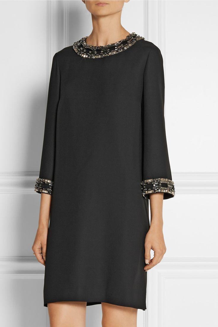 Gucci Embellished silk-cady mini dress NET-A-PORTER.COM