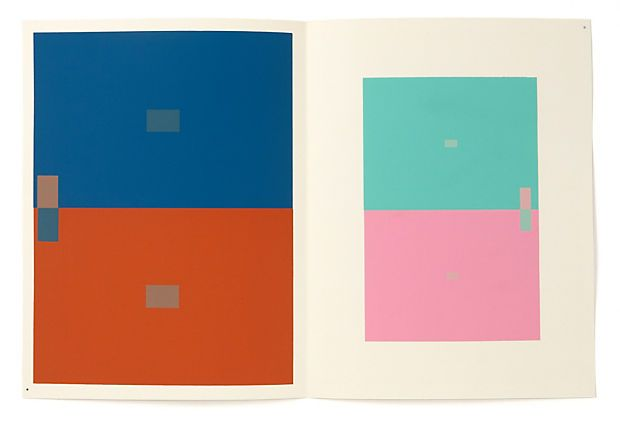 """By the Father of modern color theory, Josef Albers, one plate from the portfolio """"Interaction Of Colors"""", 1963"""