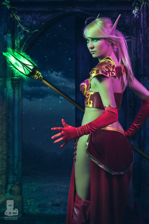 A stunning edit of @oheather1337's Blood Elf #cosplay!