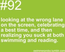 Have done this so many times it's not even funny. I always think I'm in lane eight when I'm actually in lane one