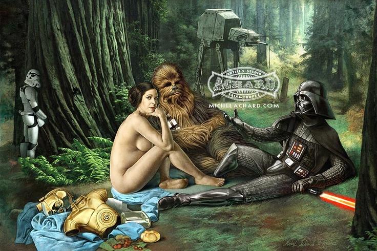 michel achard - Star Wars sur l'herbe (d'après Manet)