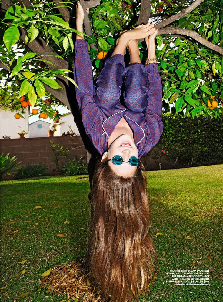 Shailene Woodley For ASOS Magazine  But with the monkey bar, not the tree.