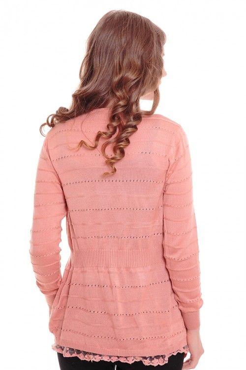 Кардиган А6084 Размеры: 42-44 Цвет: розовый Цена: 300 руб.  http://optom24.ru/kardigan-a6084/  #одежда #женщинам #кардиганы #оптом24