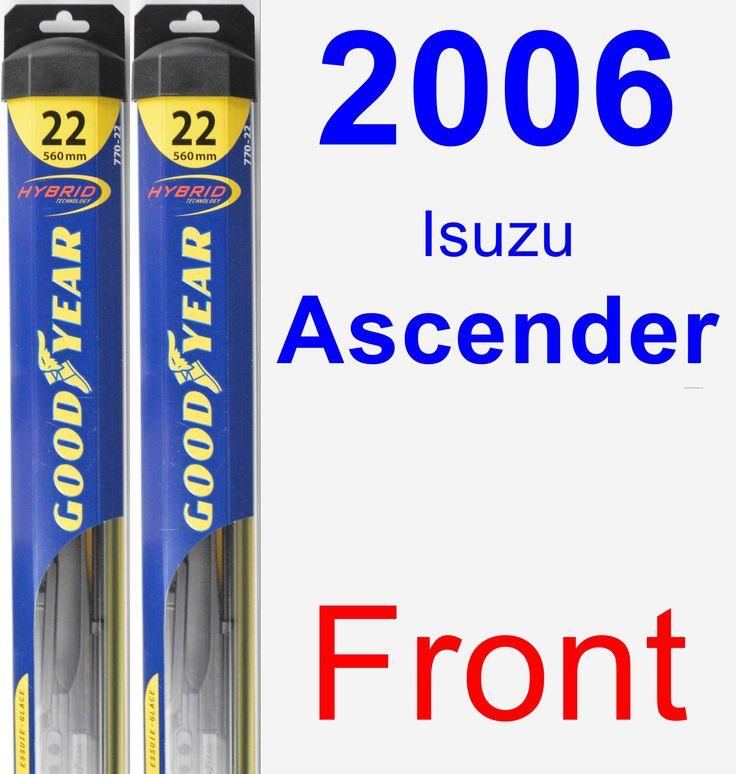 Front Wiper Blade Pack for 2006 Isuzu Ascender - Hybrid