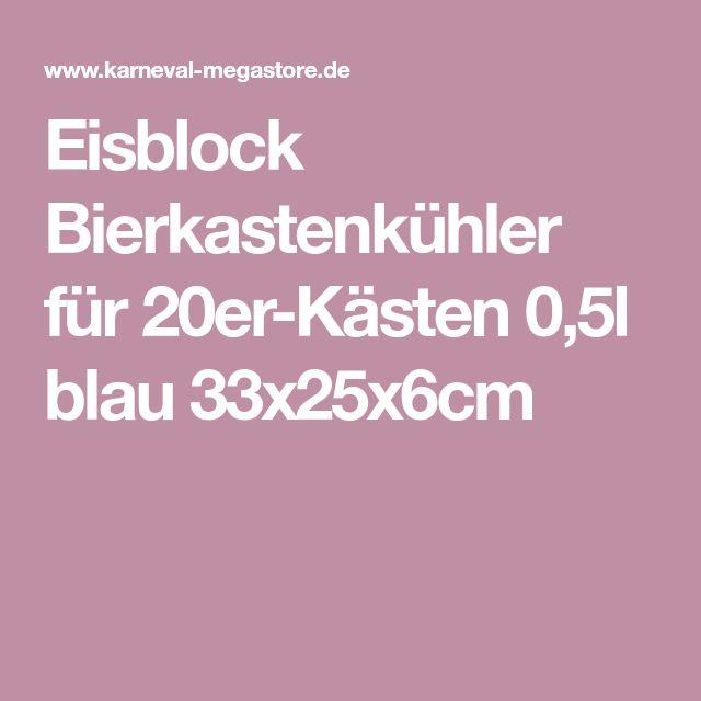 Eisblock Bierkastenkühler für 20er-Kästen 0,5l blau 33x25x6cm