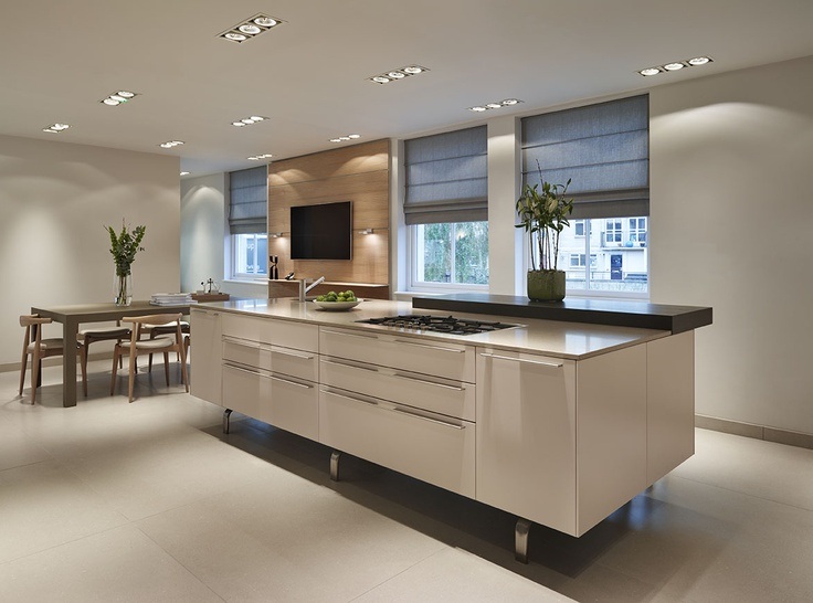 Superior Bulthaup Kitchen Island Part - 12: Bulthaup Kitchen Island And Table Displayed At Our Bath Showroom  Complemented By Carl Hansen Furniture.
