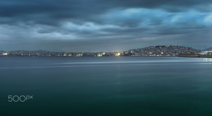 Piraeus view - A long exposure hdr shot of Piraeus as seen from Floisvos in southern Athens, Greece.