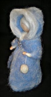 Warm Fairy in winter time, Needle felted  Wool, saesonal table, Waldorf inspired
