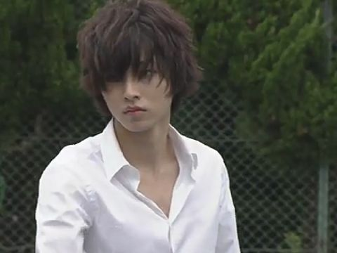 "L from Ep.4, 07/26/'15 [Preview, Ep.5] https://www.youtube.com/watch?v=s16IFiGHDNY&feature=youtu.be Kento Yamazaki, Masataka Kubota, Hinako Sano, Yutaka Matsushige. J drama series ""Death Note"", 08/02/'15 [Ep. w/Eng. sub] http://www.dramatv.tv/search.html?keyword=Death+Note+%28Japanese+Drama%29"