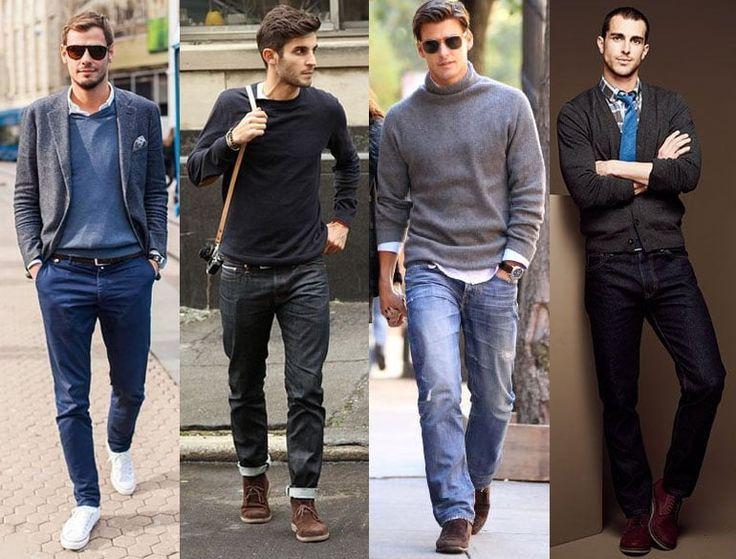 одежда для мужчин в стиле кэжуал, фото