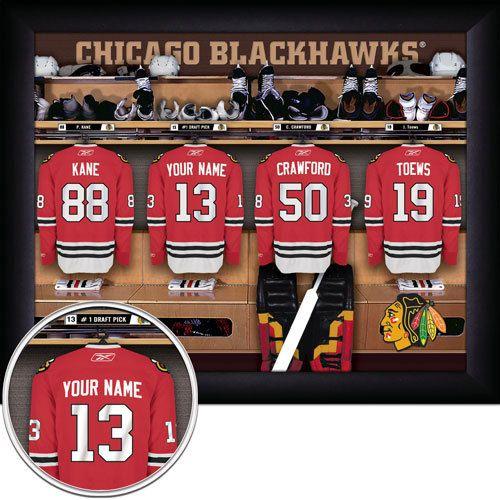 16X20 PERSONALIZED Chicago Blackhawks by GetYourNameInAFrame, $34.95