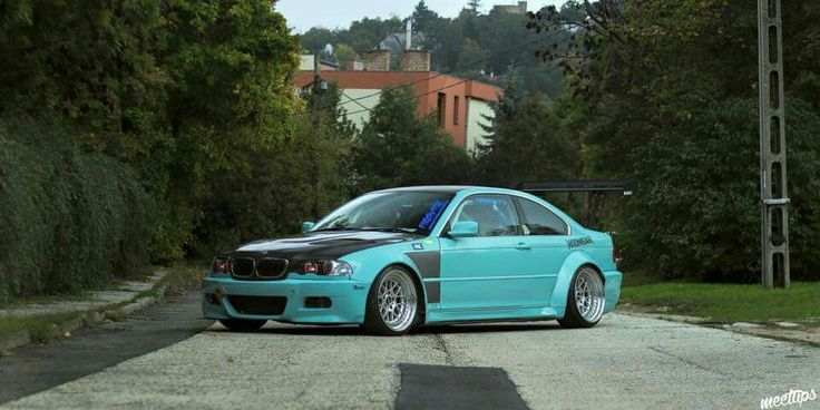 BMW E46 3 series teal widebody