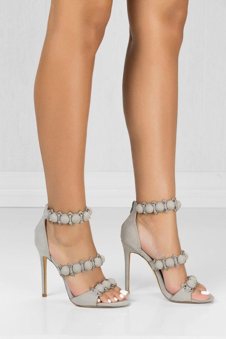 Blamershoes - Grey Pump Peep Toe Heels Womens Shoes Tisha – BlaMer Shoes