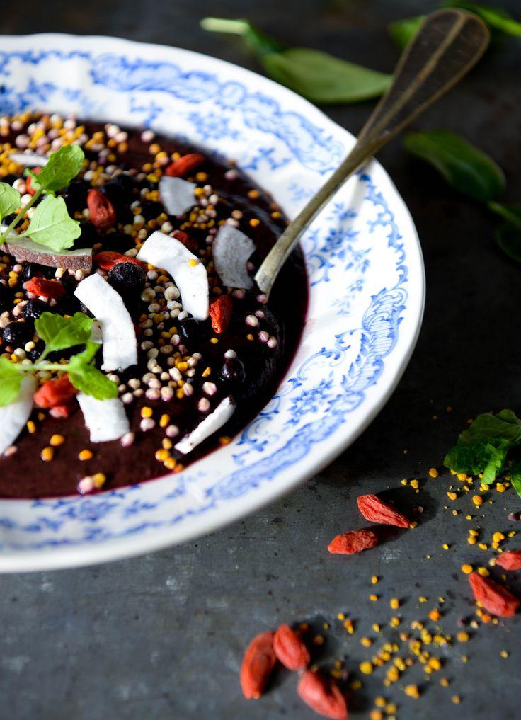 Lakridssmoothie med fennikel og blåbær