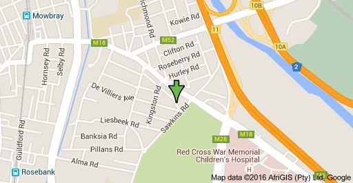 Map of 64 Cheltenham Rd, Mowbray, Cape Town, 7700