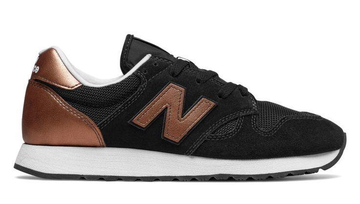 520 New Balance, Black with Copper Metallic