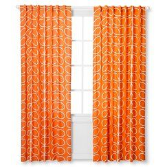 Orla Kiely Curtain Panel - Persimmon Leaf