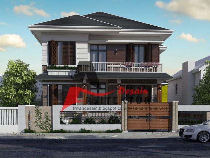 desain rumah 2 lantai tipe 200