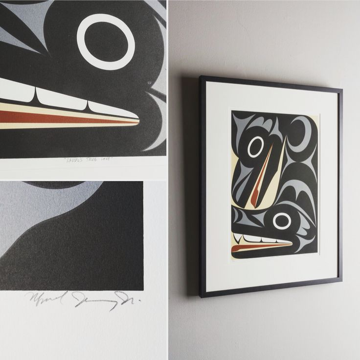 """Raven's True Love"" Maynard Johnny Jr.  http://www.douglasreynoldsgallery.com/categories/prints"