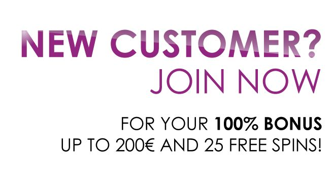 Special offer for New Customer to get your 100% Bonus, Up To €200 and 25 Free Spins! Play free casino games online, Live Casino, Sportsbook, Live Betting.