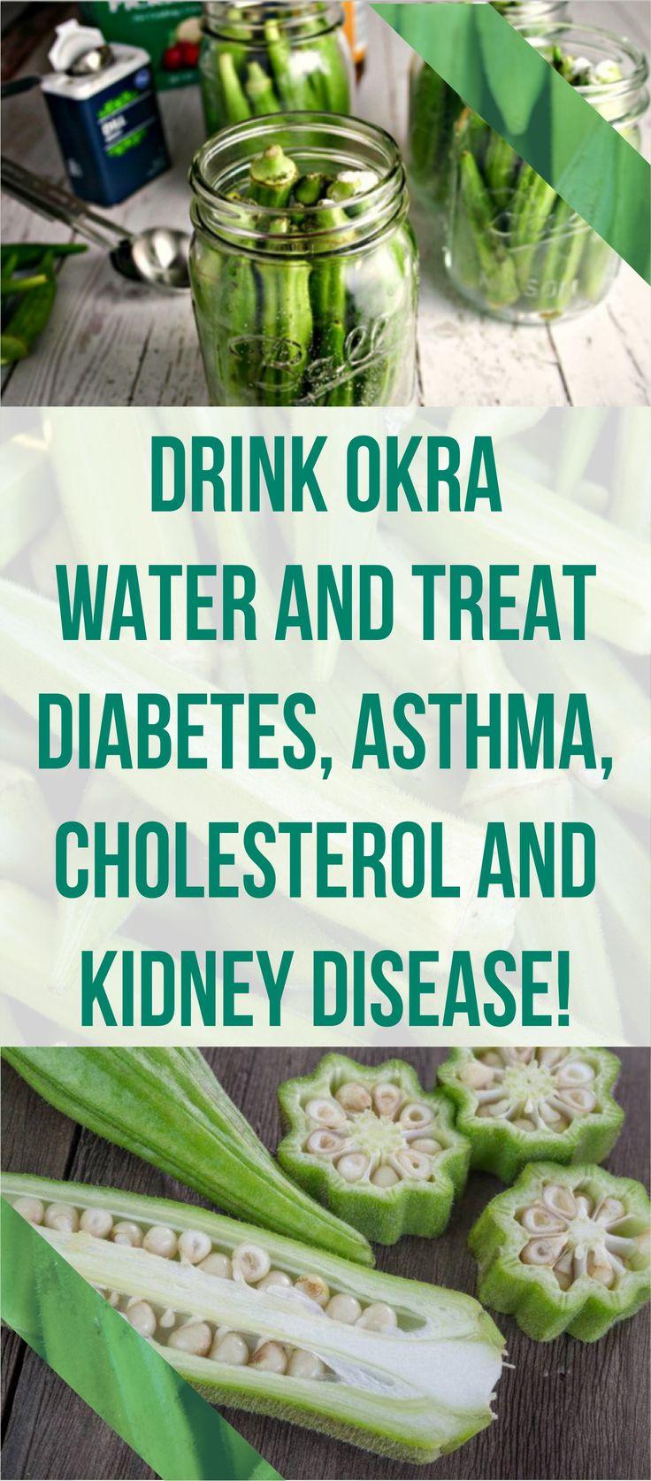 Drink Okra Water And Treat Diabetes, Asthma, Cholesterol And Kidney Disease! #okra #water #diabetes #asthma #cholesterol #kidney #disease Pin this Article #health #remedies #healing