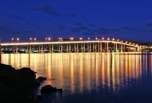 Hobart's Tasman Bridge, Tasmania, Australia