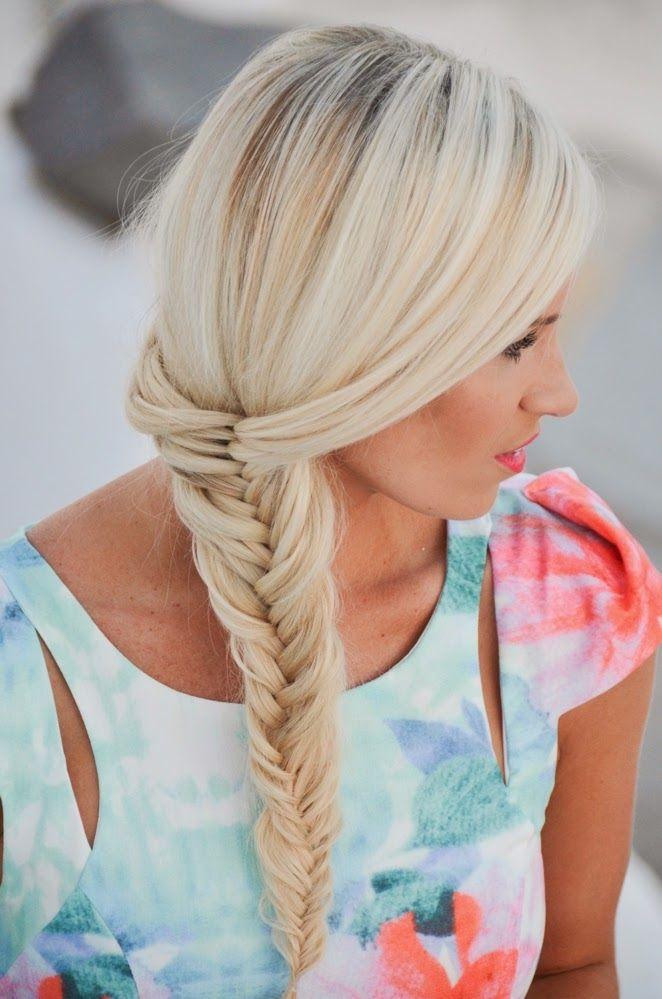 braid + hairstyle + fish braid + trenzas + espina de pescado
