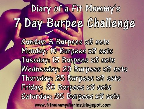 Diary of a Fit Mommy: Improve Your Burpees: 7 Day Challenge