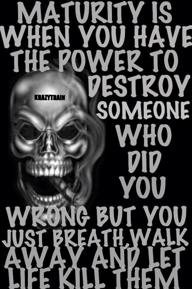 Do you know how hard that is to do...walk away!