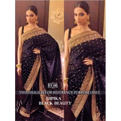 Lovely Purple Naylon Jacquard Butti Georgette Bollywood Saree Comes With Purple Color Row Silk Blouse. It Contained The Multi And Sequence Work. The Blouse Which Can be Customized up to bust Size 44