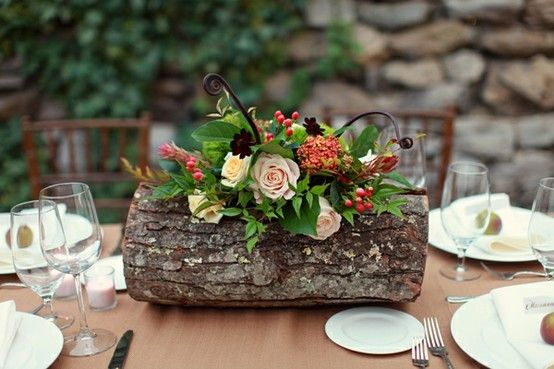 maybe something like this for the head table since it is a long table?  fall flower arrangement
