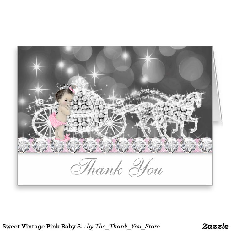 40 best baby girl thank you cards images on pinterest | thank you, Baby shower invitations