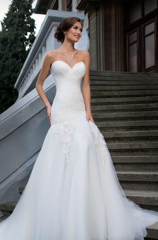 Svadobné šaty - vrstvený živôtik