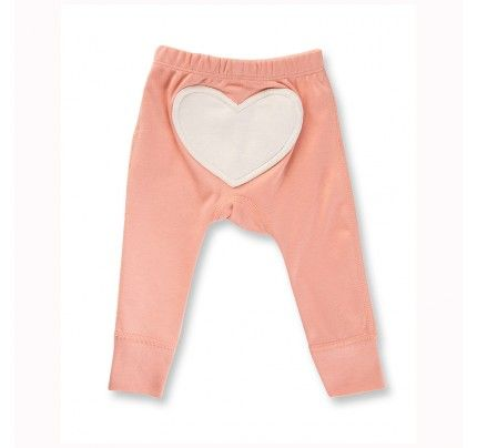 Peach Blossom Love Heart Pants