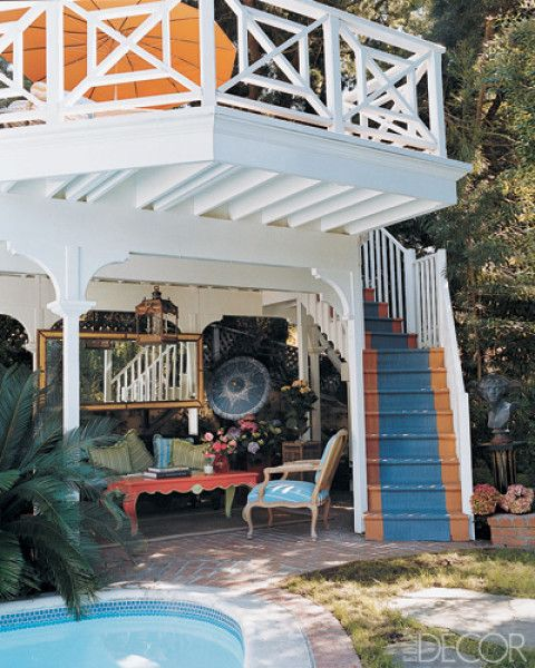 Decorative railing is a perfect touch for a cool deck